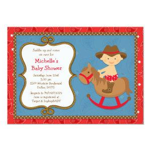 Western Baby Shower Invitation Cowboy