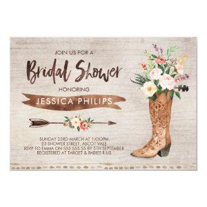 Western Bridal Shower Invitation