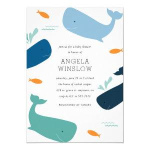 Whales Baby Shower Invitation