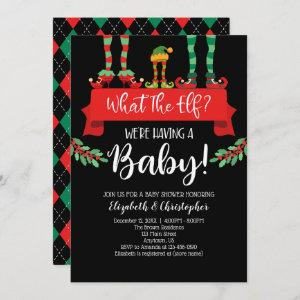 What The Elf Christmas Baby Shower Announcement