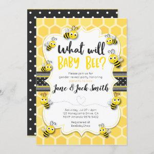 What Will Baby Bee | Gender Reveal | Baby Shower Invitation