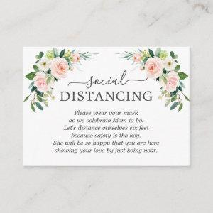 Whimsical Blush Pink Flowers Baby Shower Details Enclosure Card