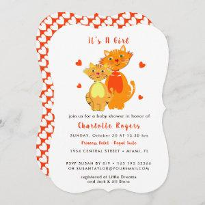 Whimsical Kitty Cat Baby Shower Cute