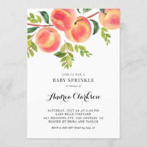 Whimsical Watercolor Peaches Summer Baby Sprinkle
