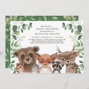 Whimsical Woodland Baby Shower Forest Greenery