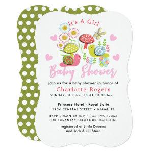Whimsy Fairy-tale Spring Garden Baby Girl Shower Invitation