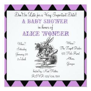 White Rabbit Alice Invitation