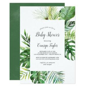 Wild Tropical Palm Baby Shower Invitation