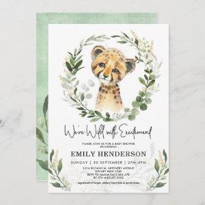 Wild With Excitement Greenery Leopard Baby Shower