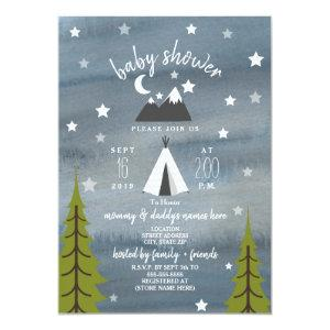 Wilderness Stars Neutral Baby Shower Invitation