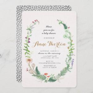 Wildflower Baby Shower Invitation