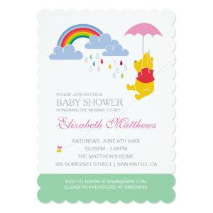 Winnie the Pooh | Girl Baby Shower Invitation