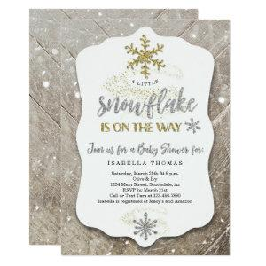 Winter Wonderland Gender Neutral Baby Shower Invitation