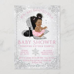 Winter Wonderland Snowflake Ethnic Baby Shower Invitation