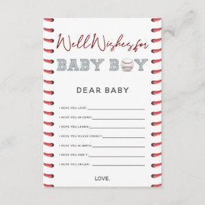 Wishes for Baby Baseball Baby Shower Enclosure Card