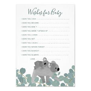 Wishes for Baby Shower Game Invitation