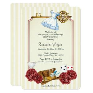 Wonderland Alice Classic Baby Shower Invitation
