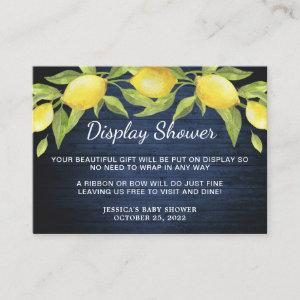 Wood & Sweet Lemons Greenery Display Shower Card