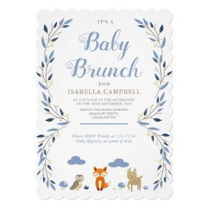 Woodland Baby Brunch Invitation