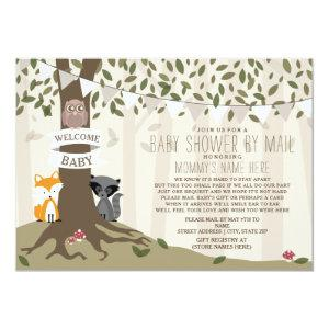 Woodland Creature Social Distance Baby Shower Invitation