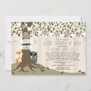 Woodland Creature Social Distance Pink Baby Shower