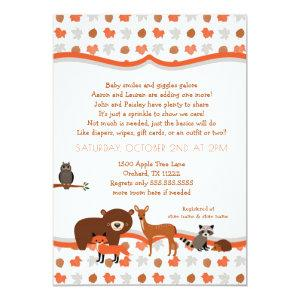 Woodland Creatures Fall Neutral Baby SPRINKLE Invitation