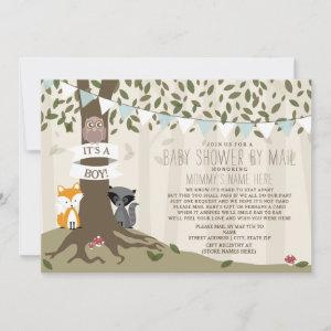 Woodland Creatures Social Distancing Mail Shower