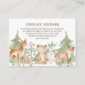 Woodland Forest Animals Gift Display Shower Enclosure Card