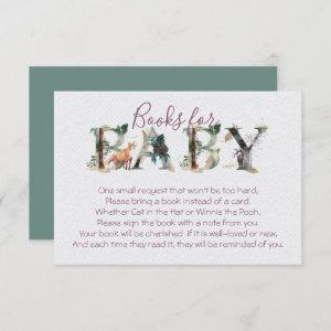 Woodland Forest Books for Baby Shower