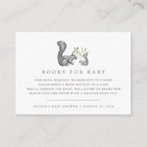 Woodland Friends Baby Shower Book Request Cards