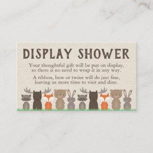 Woodland Themed Display Shower Inserts