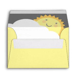 You Are My Sunshine Baby Shower Envelopes