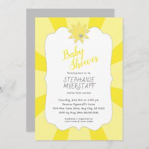 You are my sunshine baby shower, neutral gender invitation