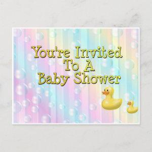You're Invited To A Baby Shower Invitation Postcard